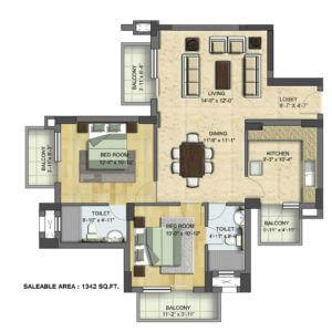 Floor Plan: BPTP Grandeura